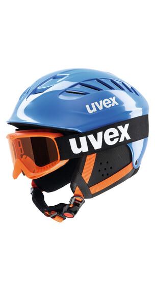 UVEX Junior Set - Casco esquí Niños - azul